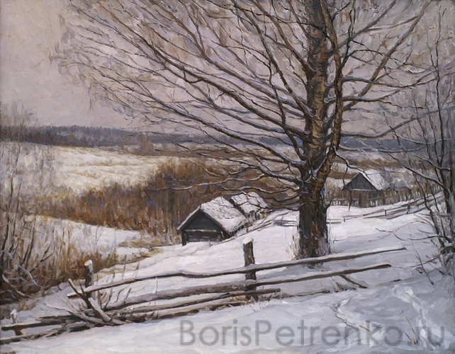 Зима в Дуброве. 2005. Холст, масло. 47 х 60