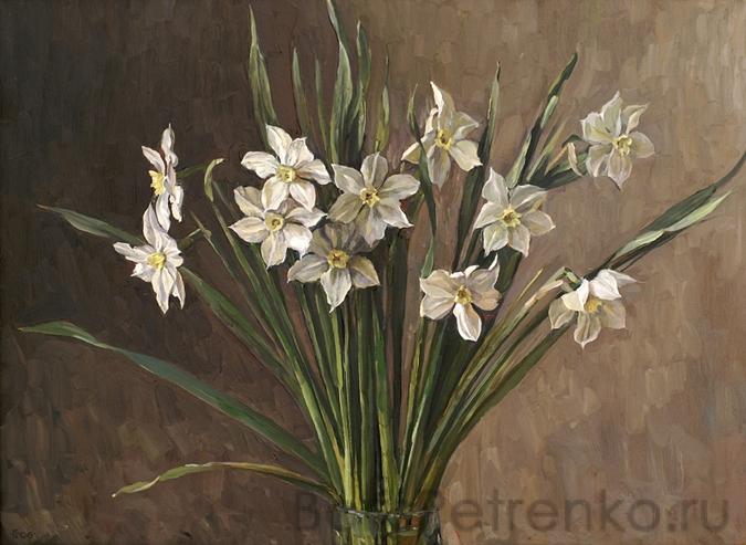 Нарциссы. 2006. Оргалит, масло. 46 х 61