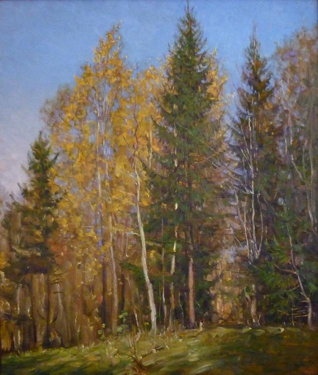 Осень на опушке. 2011. Оргалит, масло. 70 х 60