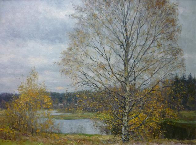 Последние листья. 2008. Холст, масло. 60 х 80