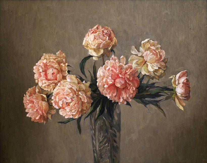 Розовые пионы. 2006. 76 х 61