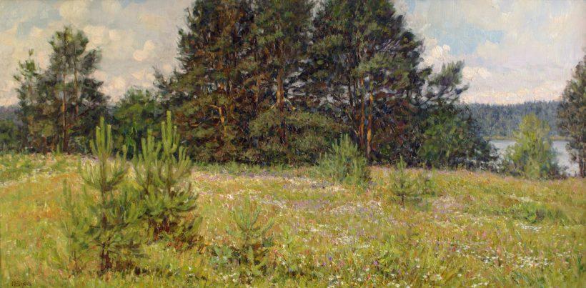 Цветущий луг. 2008. 50 х 100