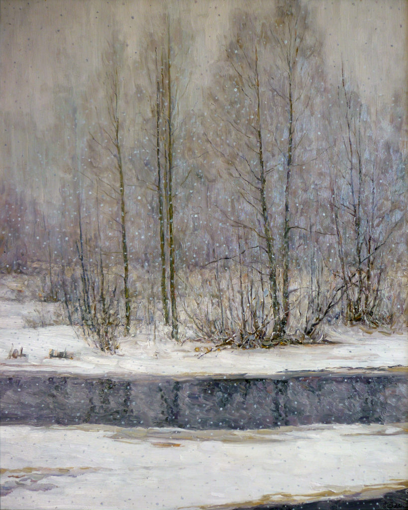 Потеплело - картина Б.Н. Петренко